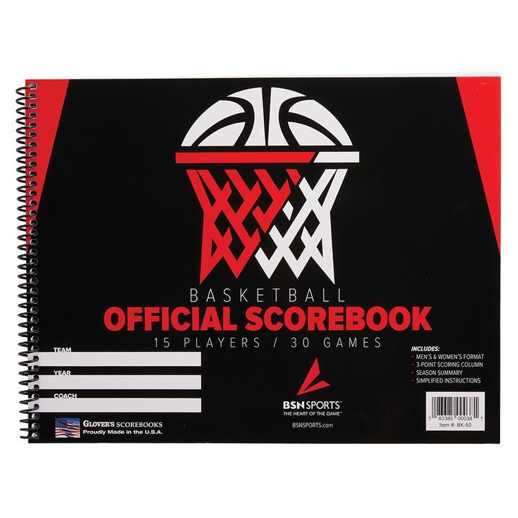 Glovers Score-Right Gamecraft Basketball Scorebook