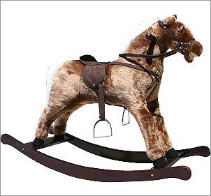 Alexander Taron Large Plush Rocking Horse