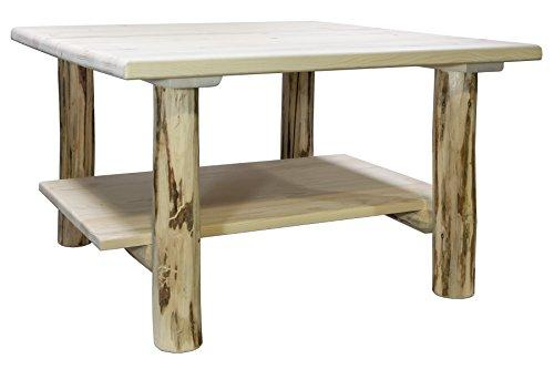 Montana Woodworks Montana Collection Cocktail Table w/ Shelf, Ready to Finish