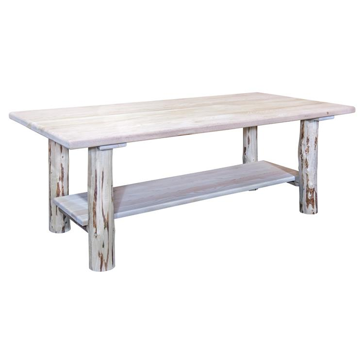 Montana Woodworks Montana Collection Coffee Table w/ Shelf, Clear Lacquer Finish