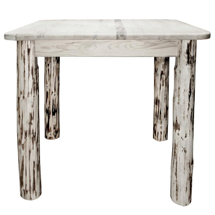Montana Woodworks  Montana Collection Counter Height Square 4 Post Dining Table, Ready to Finish