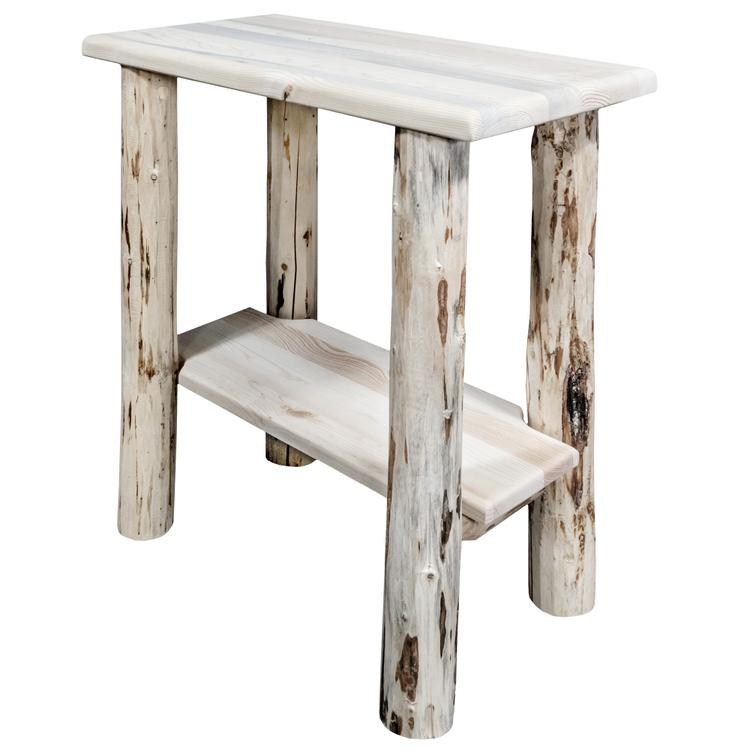 Montana Woodworks  Montana Collection Chairside Table, Clear Lacquer Finish