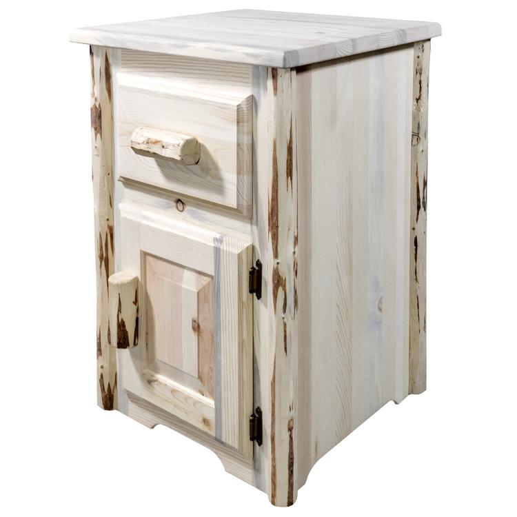Montana Woodworks  Montana Collection End Table w/ Drawer & Door, Right Hinged, Ready to Finish [Item # MWETSTDDR]