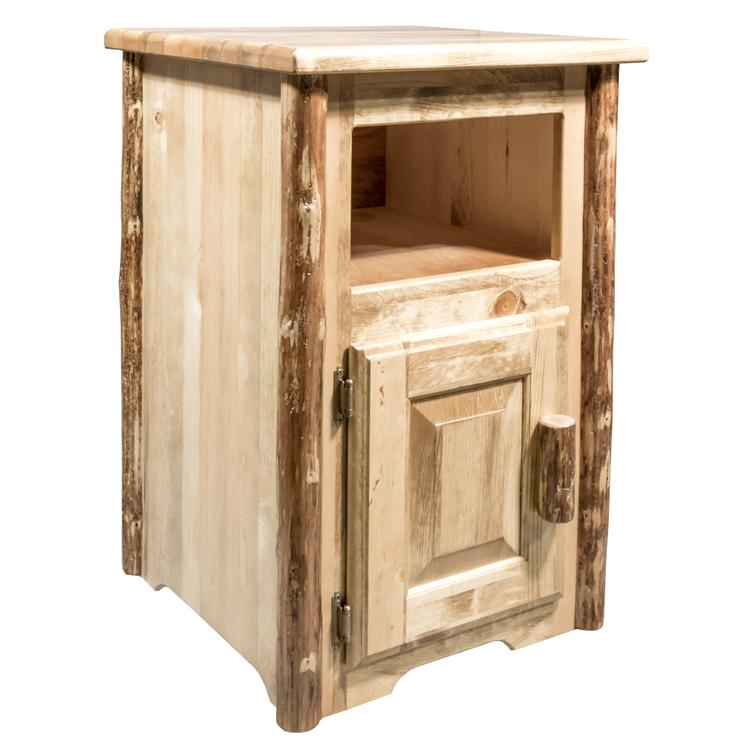 Montana Woodworks  Glacier Country Collection End Table w/ Door, Left Hinged [Item # MWGCETSTDOL]