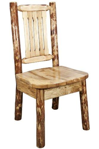Montana Woodworks Glacier Country Collection Side Chair w/ Ergonomic Wooden Seat