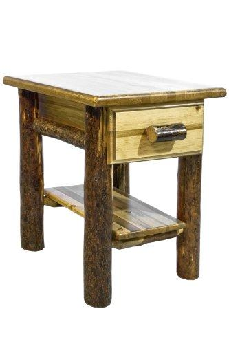 Montana Woodworks Glacier Country Collection Nightstand with Drawer & Shelf