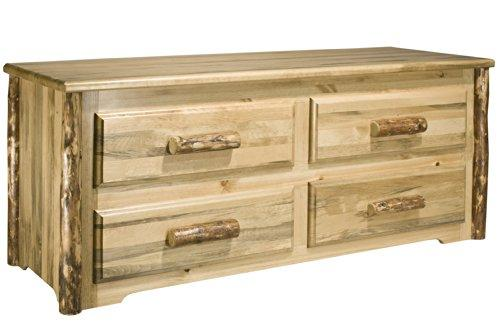 Montana Woodworks Glacier Country Collection 4 Drawer Sitting Chest