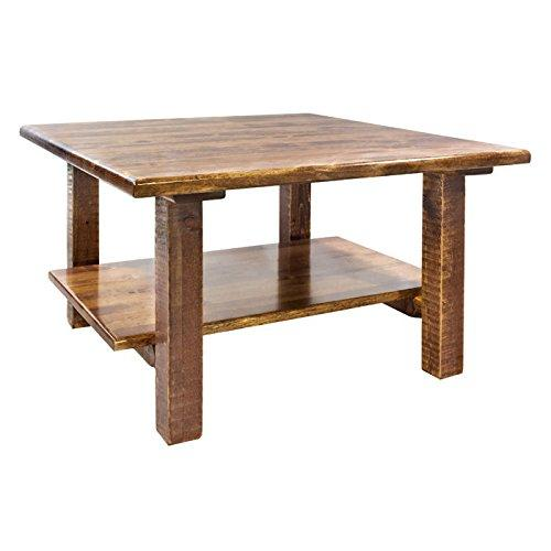 Montana Woodworks Homestead Collection Cocktail Table w/ Shelf, Stain & Clear Lacquer Finish
