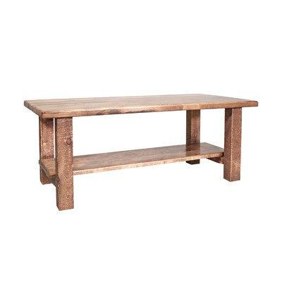 Montana Woodworks Homestead Collection Coffee Table w/ Shelf, Stain & Clear Lacquer Finish