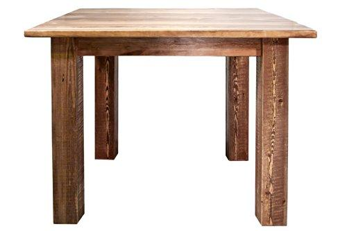 Montana Woodworks Homestead Collection Square 4 Post Dining Table, Stain & Clear Lacquer Finish