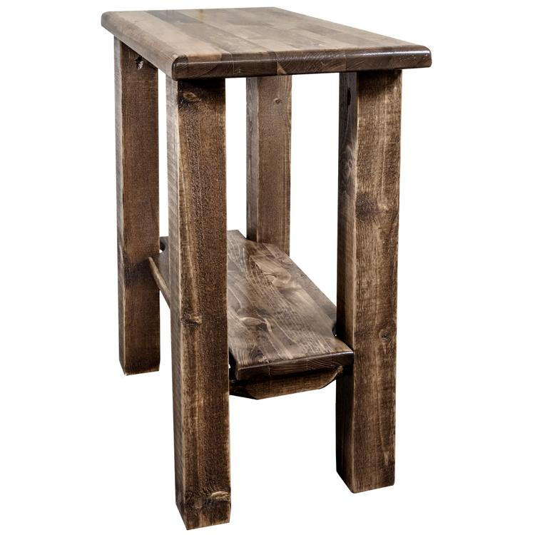 Montana Woodworks  Homestead Collection Chairside Table, Stain & Lacquer Finish