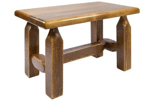 Montana Woodworks Homestead Collection Ottoman, Stain & Clear Lacquer Finish