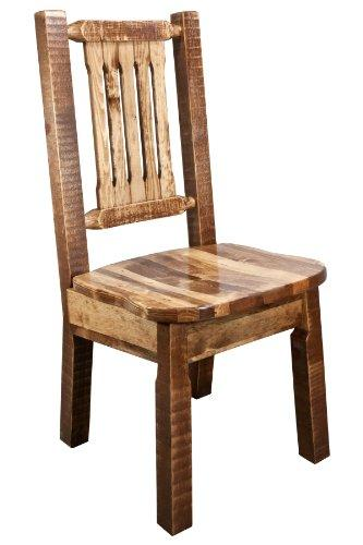 Montana Woodworks Homestead Collection Side Chair, Stain & Clear Lacquer Finish w/ Ergonomic Wooden Seat