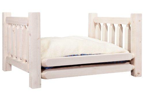 Montana Woodworks Homestead Collection Large Pet Bed w/ 30x40 Mattress, Ready to Finish