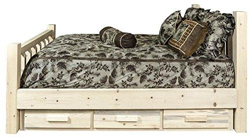 Montana Woodworks Homestead Collection Queen Bed w/ Storage, Ready to Finish