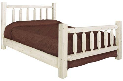 Montana Woodworks Homestead Collection Twin Bed, Clear Lacquer Finish