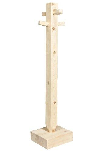 Montana Woodworks Homestead Collection Adult Coat Tree, Clear Lacquer Finish