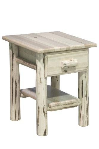 Montana Woodworks Montana Collection Nightstand with Drawer & Shelf, Ready to Finish