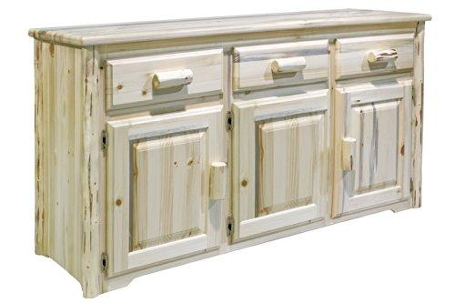 Montana Woodworks Montana Collection Sideboard, Clear Lacquer Finish [Item # MWSBV]