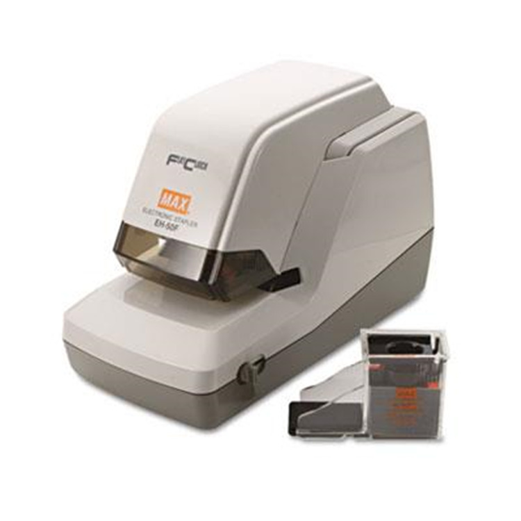 Max® EH-50F Heavy-Duty Flat Clinch Electric Stapler with Staple Cartridge