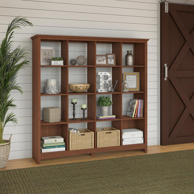 Bush Furniture Buena Vista 16 Cube Bookcase