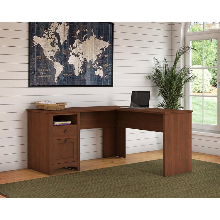 Bush Furniture Buena Vista 60W L Shaped Desk with Drawers