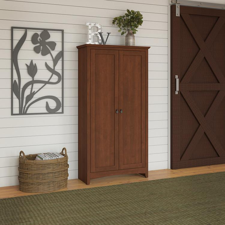 Bush Furniture Buena Vista Tall Storage Cabinet with Doors