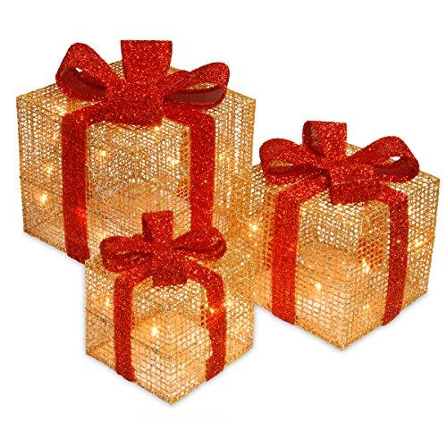 National Tree Pre-Lit Gold Thread Gift Box Assortment