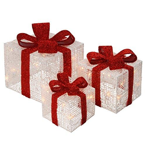 National Tree Pre-Lit White Thread Gift Box Assortment
