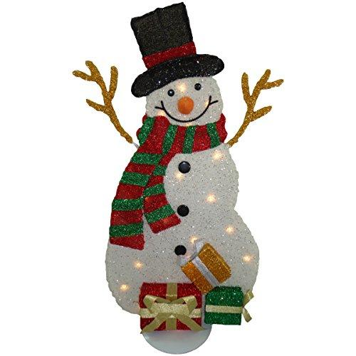 National Tree Pre-Lit Tinsel Snowman