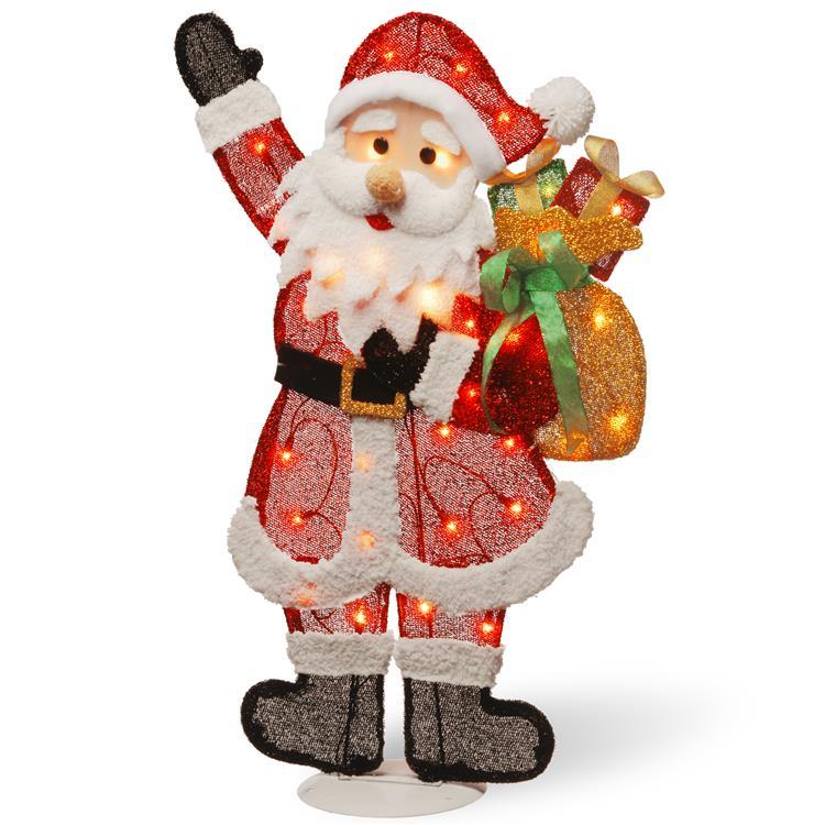 National Tree Pre-Lit Tinsel Santa [Item # MZTSC-31LO-1]