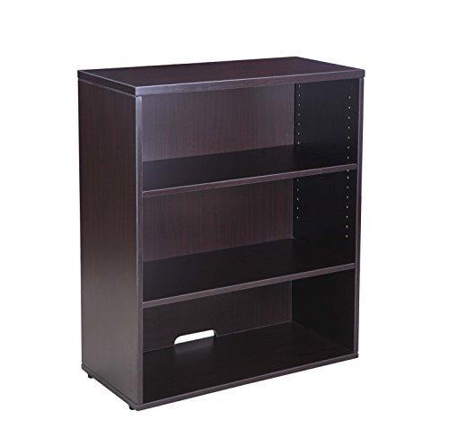 Boss Office Open Hutch/Bookcase- Mocha