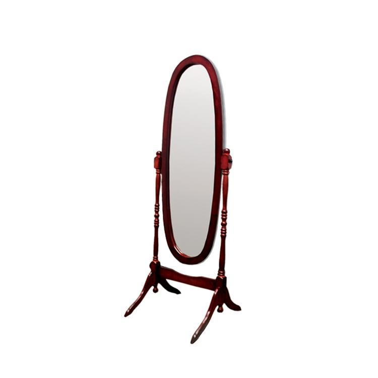 ORE International Natural Wooden Cheval Floor Mirror