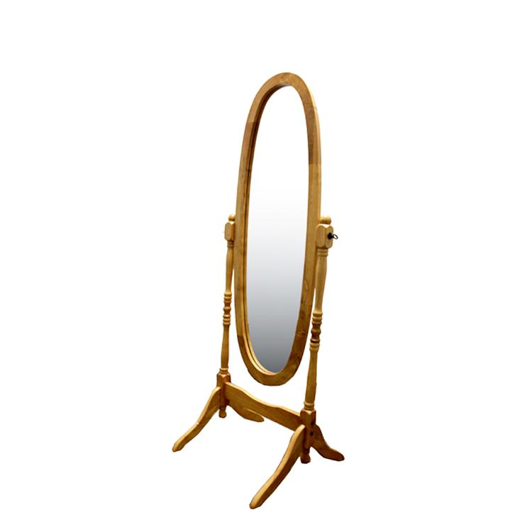 ORE International Natural Wooden Cheval Floor Mirror
