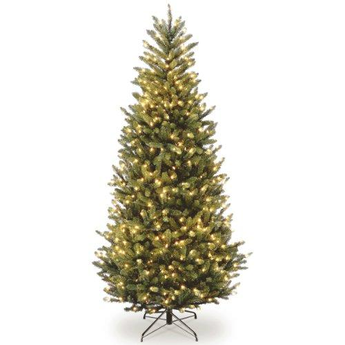 Natural Fraser Slim Fir Tree with Clear Lights