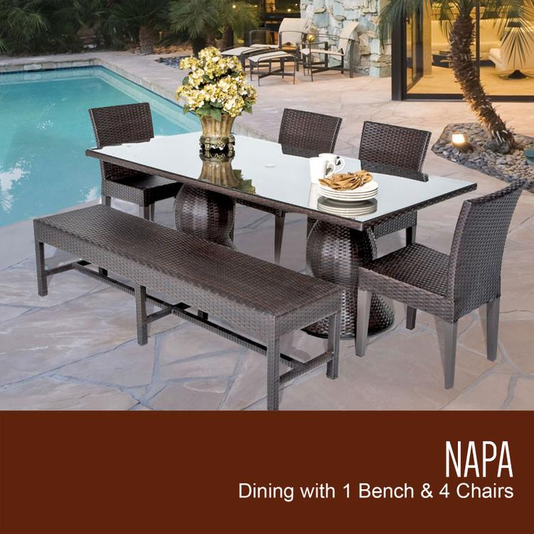 Patio Dining Sets Patio Furniture OJCommerce - Rectangular metal patio dining table