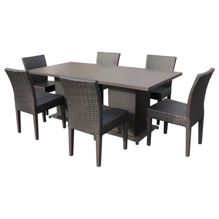 Napa Square Dining Table With 6 Chairs Espresso