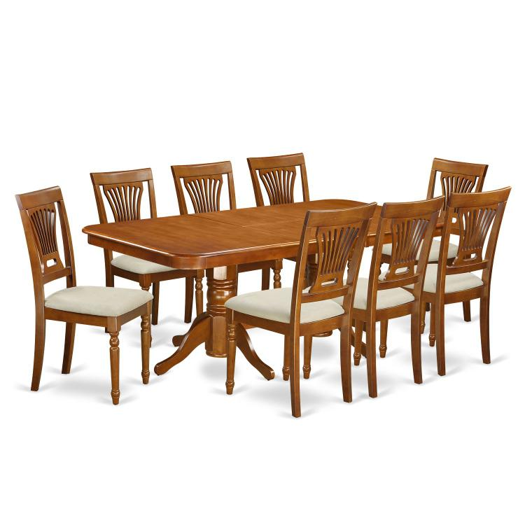 East West Furniture 5-Piece Dining Table Set [Item # NAPL9-SBR-C]