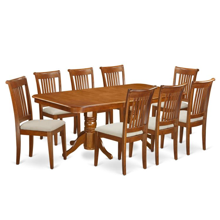 East West Furniture Dining Room Set [Item # NAPO9-SBR-C]