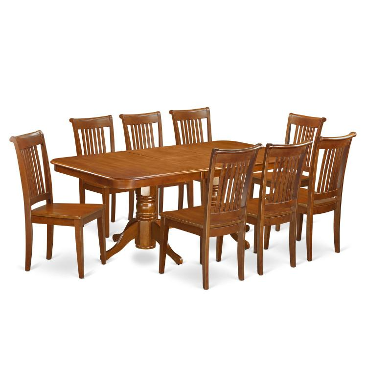 East West Furniture Dining Room Set - [NAPO5-SBR-W]