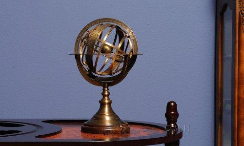 Armillary Sphere on wood base - [ND042]