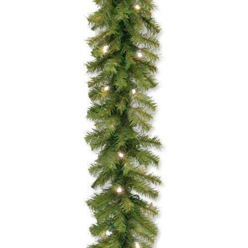 National Tree Norwood Fir Garland with Battery Operated Warm White LED Lights
