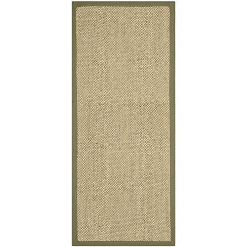 Traditional Rug - Natural Fiber Sisal -Natural/Green