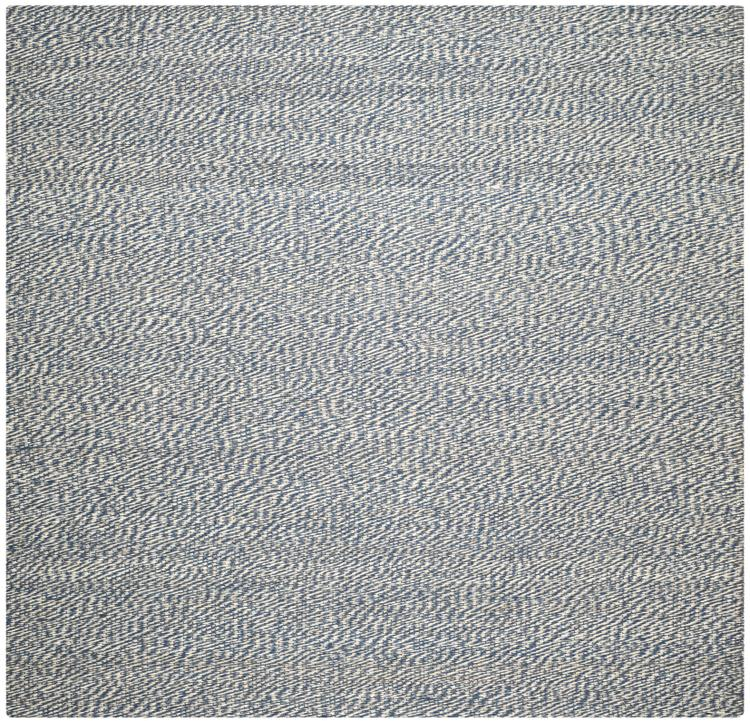 Traditional Rug - Natural Fiber Sisal -Blue/Ivory