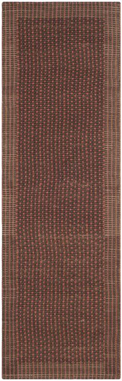 Traditional Rug - Natural Fiber Sisal -Brown/Rust