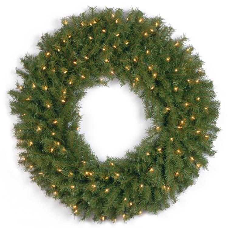 National Tree Norwood Fir Wreath with Clear Lights [Item # NF-36WLO-1]