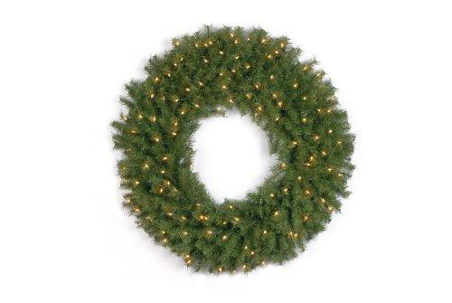 National Tree Norwood Fir Wreath with Clear Lights