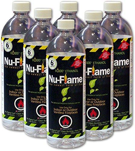 Bluworld HOMelements Nu-Flame Liquid Ethanol Fuel 6 Pack