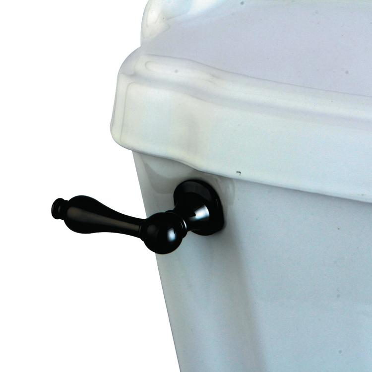 Kingston Brass NKTAL Water Onyx Toilet Tank Lever, Black Stainless Steel