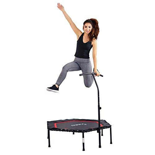 Sunny Health & Fitness Hexagon Trampoline with Adjustable Handlebar - NO. 079